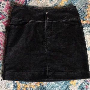 ATHLETA black corduroy mini skirt drawstring